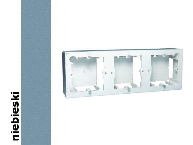 Puszka instalacyjna Classic nadtynkowa 3x MPN3/23 niebieski Kontakt Simon