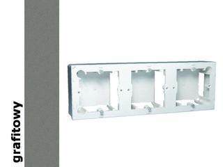 Puszka instalacyjna Classic nadtynkowa 3x MPN3/25 grafit Kontakt Simon