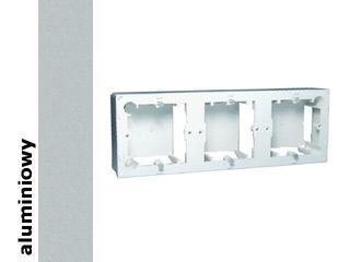 Puszka instalacyjna Classic nadtynkowa 3x MPN3/26 aluminium srebrny Kontakt Simon