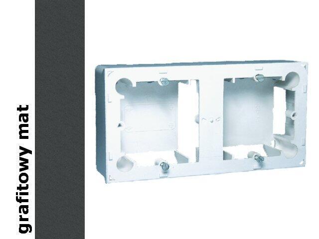 Puszka instalacyjna Classic nadtynkowa 2x MPN2/28 matowy grafit Kontakt Simon