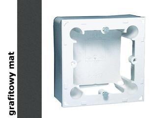Puszka instalacyjna Classic nadtynkowa 1x MPN1/28 matowy grafit Kontakt Simon