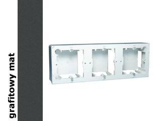 Puszka instalacyjna Classic nadtynkowa 3x MPN3/28 matowy grafit Kontakt Simon