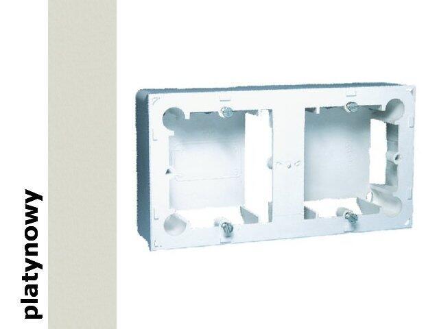 Puszka instalacyjna Classic nadtynkowa 2x MPN2/27 platynowy Kontakt Simon