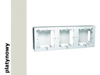 Puszka instalacyjna Classic nadtynkowa 3x MPN3/27 platynowy Kontakt Simon