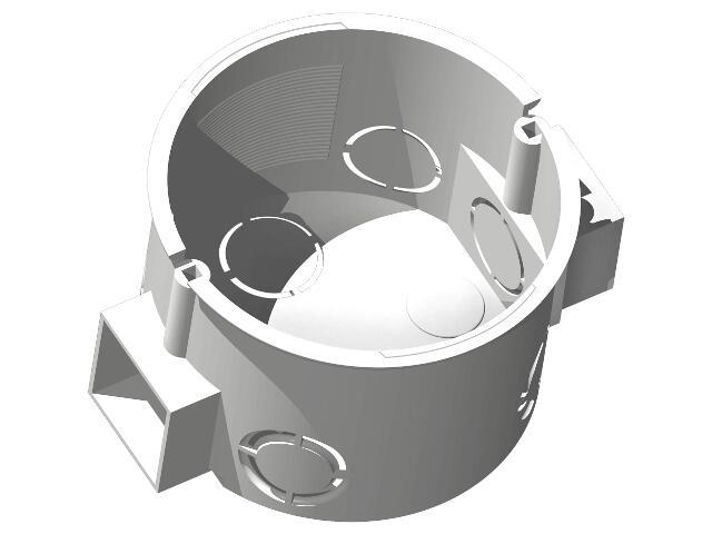 Puszka instalacyjna EFEKT p/t końcowa fi 60 do zestawów biały Ospel