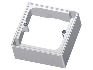 Puszka instalacyjna EFEKT METALIC naścienna jednokrotna IP20 srebro Ospel