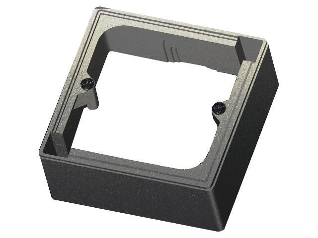 Puszka instalacyjna EFEKT METALIC naścienna jednokrotna IP20 grafit Ospel