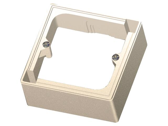 Puszka instalacyjna EFEKT METALIC naścienna jednokrotna IP20 piasek Ospel