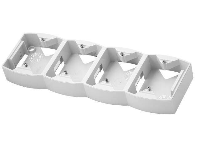 Puszka instalacyjna GAZELA poczwórna pionowa biały Ospel