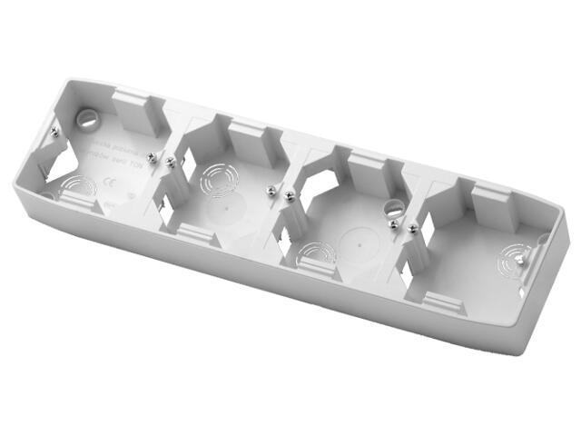 Puszka instalacyjna TON poczwórna pozioma biały Ospel
