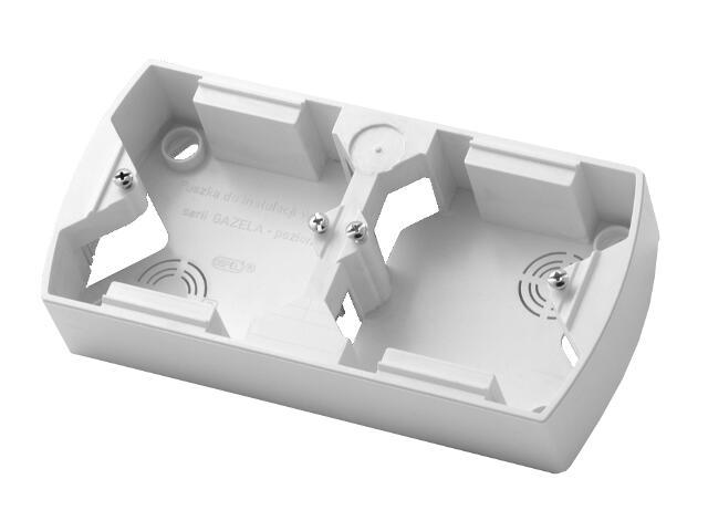 Puszka instalacyjna GAZELA podwójna pozioma biały Ospel