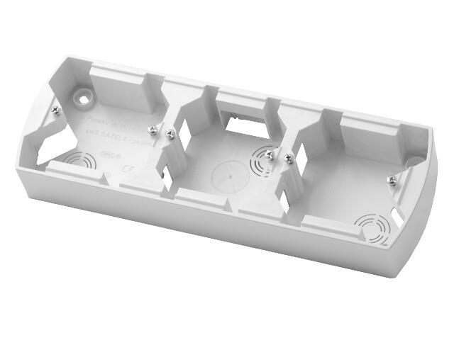Puszka instalacyjna GAZELA potrójna pozioma biały Ospel