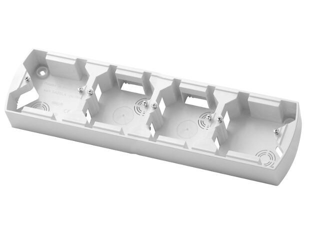 Puszka instalacyjna GAZELA poczwórna pozioma biały Ospel