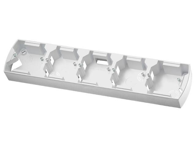 Puszka instalacyjna GAZELA pięciokrotna pozioma biały Ospel
