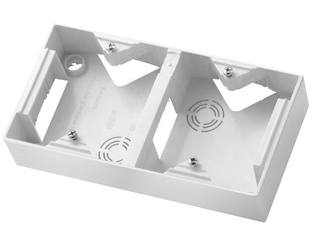 Puszka instalacyjna TON podwójna pionowa biały Ospel