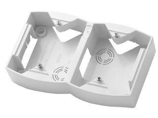 Puszka instalacyjna GAZELA podwójna pionowa biały Ospel