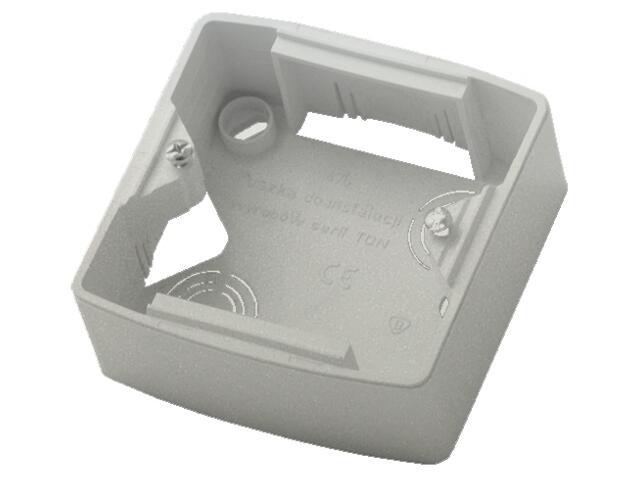 Puszka instalacyjna TON METALIC pojedyncza srebro Ospel