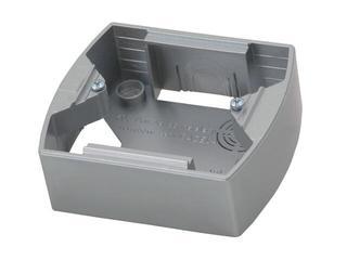 Puszka instalacyjna GAZELA METALIC pojedyncza srebro Ospel