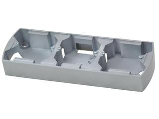 Puszka instalacyjna GAZELA METALIC potrójna pozioma srebro Ospel