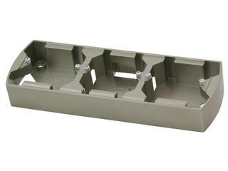 Puszka instalacyjna GAZELA METALIC potrójna pozioma satyna Ospel