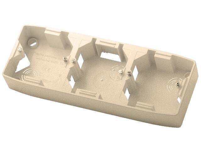 Puszka instalacyjna TON METALIC potrójna pozioma satyna Ospel