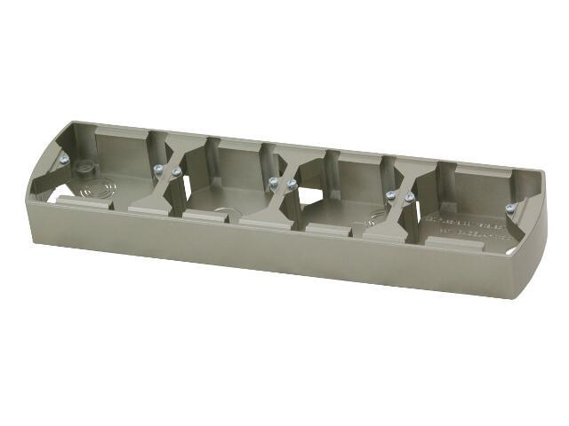 Puszka instalacyjna GAZELA METALIC poczwórna pozioma satyna Ospel