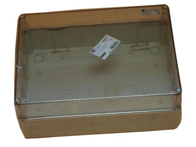 Puszka instalacyjna gładka IP65 190x145x70 pokrywa transparentna PCE