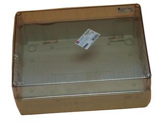 Puszka instalacyjna gładka IP65 240x190x110 pokrywa transparentna PCE