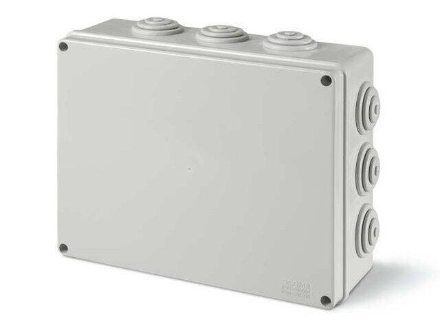 Puszka instalacyjna SCABOX 100x100x50 mm, dławica IP55 Scame
