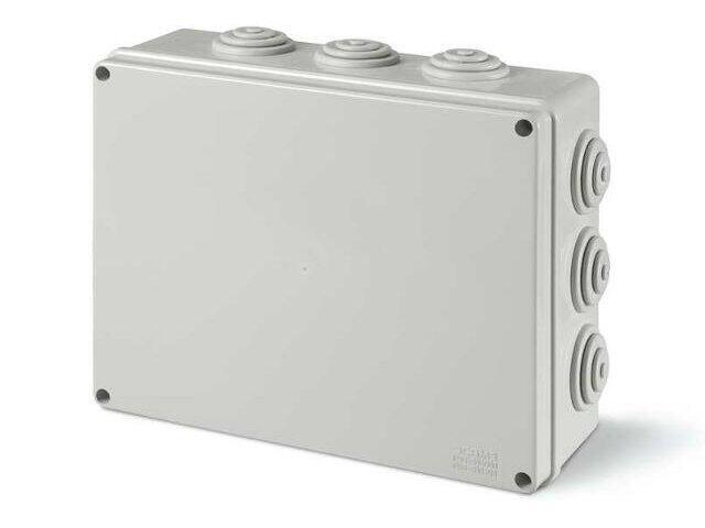 Puszka instalacyjna SCABOX 190x140x70 mm, dławica IP55 Scame