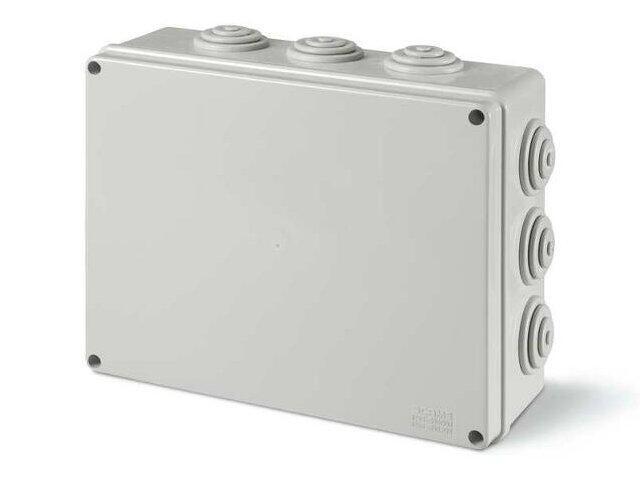 Puszka instalacyjna SCABOX 240x190x90 mm, dławica IP55 Scame