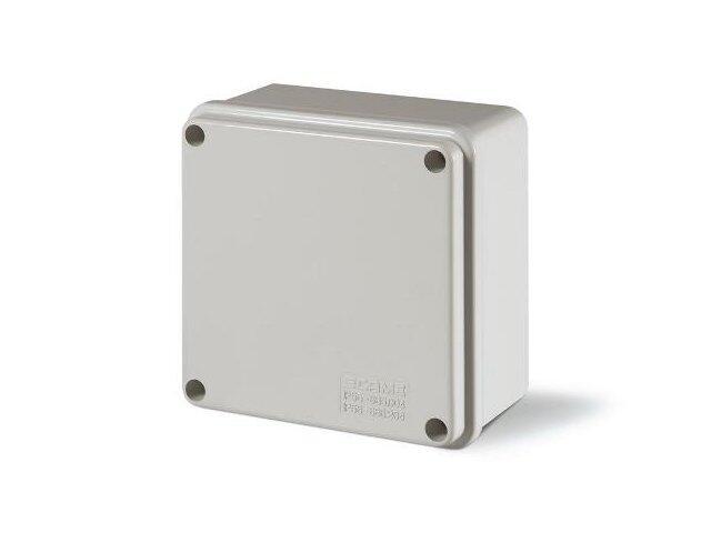 Puszka instalacyjna SCABOX 100x100x50 mm, dławica IP56 Scame