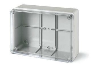 Puszka instalacyjna SCABOX 150x110x70 mm, przezroczyste wieczko Scame