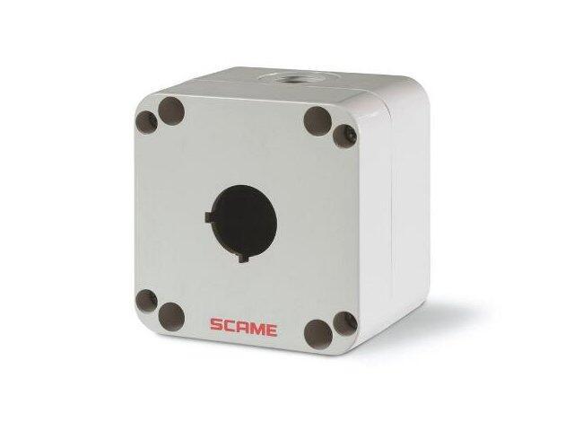 Puszka instalacyjna TOP22 pod przycisk sterowniczy 1 otwór na kabel M16-M20 Scame