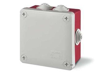 Puszka instalacyjna CUBIK 100x100x50 mm 960°C czerwony Scame
