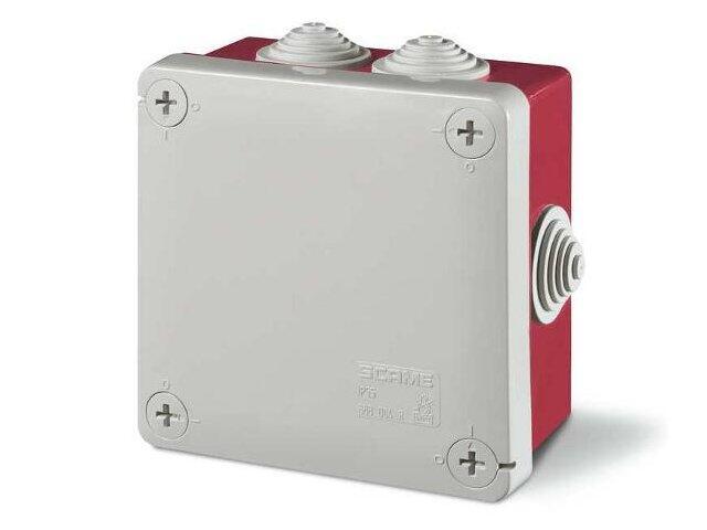 Puszka instalacyjna CUBIK 120x80x50 mm 960°C czerwony Scame