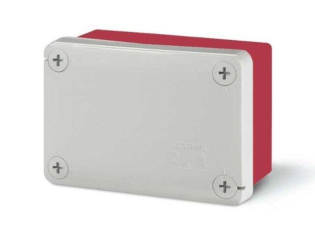 Puszka instalacyjna CUBIK 120x80x50 mm 960°C bez dławic czerwony Scame