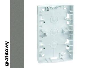 Puszka instalacyjna Simon 82 nadtynkowa płytka 2x grafit 82760-38 Kontakt Simon