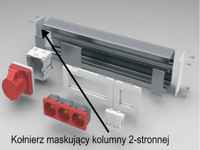 Kołnierz maskujący kolumny 2-stronnej AKS Zielonka