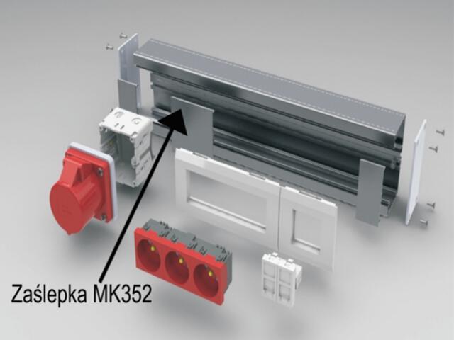 Pokrywa 78mm L=346mm zaśl. MK352 aluminium AKS Zielonka