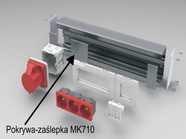 Pokrywa 78mm L=704mm zaśl. MK710 aluminium AKS Zielonka