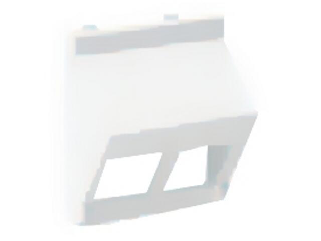 Płytka Connect teleinf. 2x bez osłon skośna KB080/9 Kontakt Simon