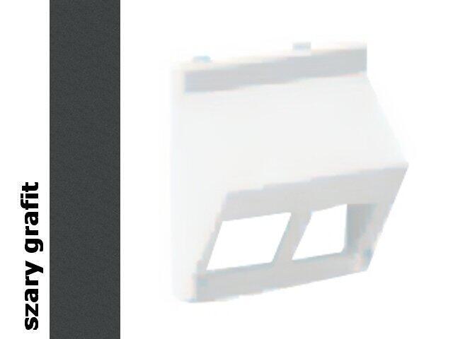 Płytka Connect teleinf. 2x bez osłon skośna KB080/14 Kontakt Simon
