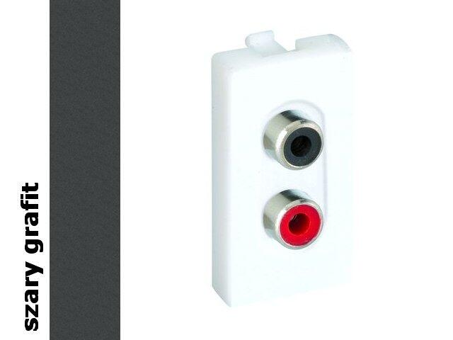 Adapter Connect złącza 2x RCA (CINCH)+wkłady K101A/14 Kontakt Simon