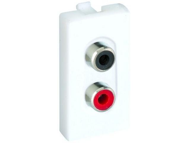 Adapter Connect złącza 2x RCA (CINCH)+wkłady K101A/9 Kontakt Simon