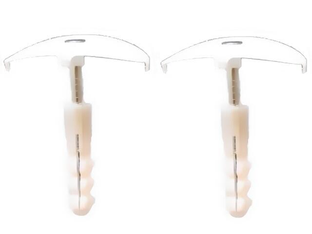 Uchwyt kablowy wbijany z gwoździem hartowanym + kołek rozporowy fi6 PUzK 50szt Elektro-Plast