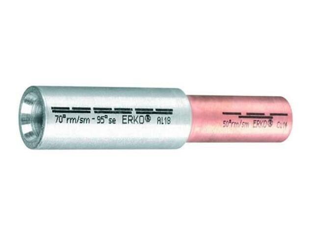 Złączka kablowa tulejkowa redukcyjna Al-Cu szczelna ACL 50-50 1szt Erko