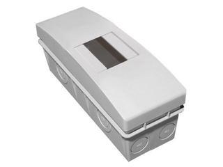 Rozdzielnia naścienna Combi szara 4 moduły IP40 bez listew zaciskowych PCE