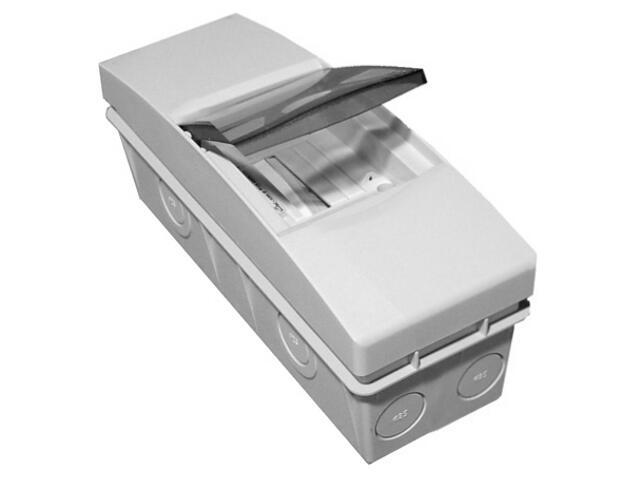 Rozdzielnia naścienna Combi szara 5 moduły IP40 z listw.drzwi transp. PCE