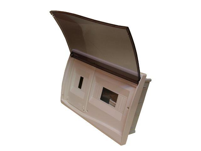 Rozdzielnia Diamand IP40 szara wyłącznik+8 modułów drzwi transparentne PCE